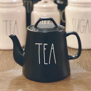 RAE DUNN black teapot { TEA }